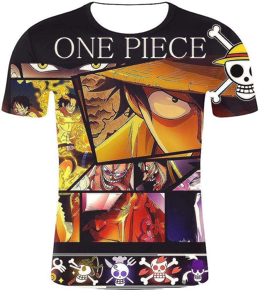 GOYING Camiseta Unisex de Manga Corta One Piece Monkey·D·Luffy Contenido: impresión 3D, Otaku, Juegos de rol, cómics, Dibujos Animados: Amazon.es: Ropa y accesorios