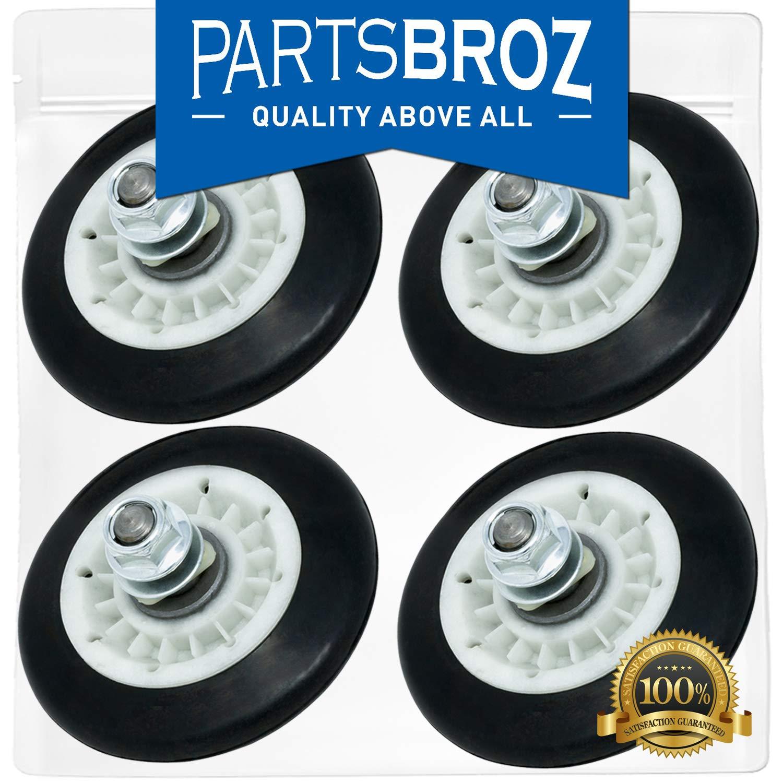 4581EL2002C (4-Pack) Drum Support Roller Assembly for LG Dryers by PartsBroz - Replaces AP5688895, 2701044, 4581EL2002A, 4581EL2002B, 4581EL2002D, 4581EL2002E, 4581EL3001C, 4581EL3001F, PS8260240