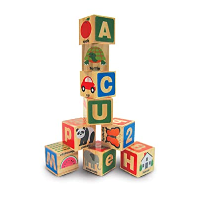 Melissa & Doug ABC/123 Wooden Blocks (26 pcs): Melissa & Doug: Toys & Games