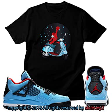 best website a88aa 752c0 Custom T Shirt Matching Travis Scott x Air Jordan 4 Cactus Jack JD 4-1-1 at Amazon  Men s Clothing store