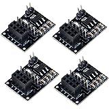 MakerHawk Modulo 4pcs NRF24L01 + Wireless con l'adattatore di breakup 3.3V del regolatore sulla scheda per l'automobile intellettiva