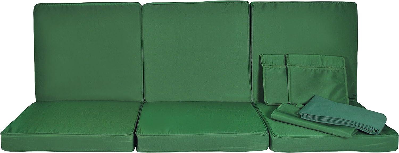 174x58x8 cm Stiliac 9601T312 Set Cuscini Ricambio Rigato Verde//Bianco