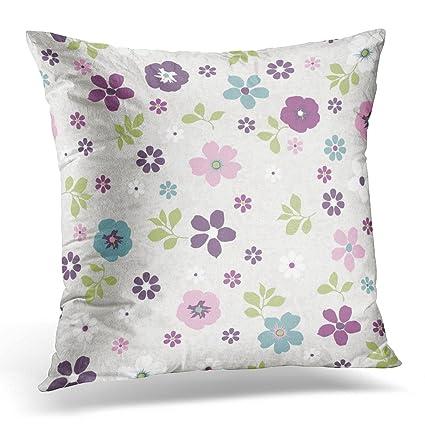 Amazon Sdamase Throw Pillow Cover Green Ditsy Tiny Floral Classy Tiny Decorative Pillows