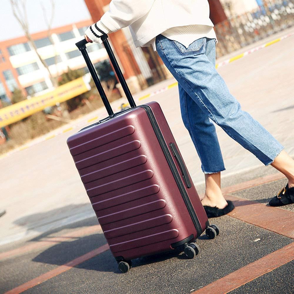 旅行スーツケース、 ユニバーサルホイールトロリーケース防爆ジッパースーツケースパスワード搭乗荷物スーツケース荷物ロックスーツケース (色 : 赤, サイズ : 20Inch) B07V7T1RSK 赤 20Inch