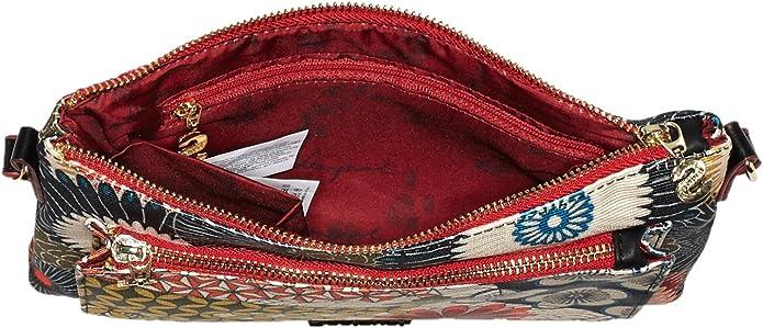 Desigual - Toulouse Japan Fresh, Bolso Bandolera Mujer, Negro (2000), 26x17x1 cm (B x H x T): Amazon.es: Zapatos y complementos