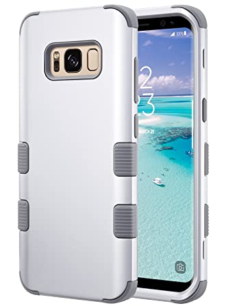 ULAK Galaxy S8 Caso, S8 Funda, Fashion Hybrid 3 Capas a Prueba de Golpes [Drop Protection] Soft Silicona Hard PC Impact Carcasa Funda para Galaxy S8 ...