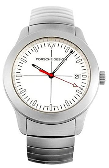 Hombres del reloj Porsche 6601.41 blanco (38 mm)