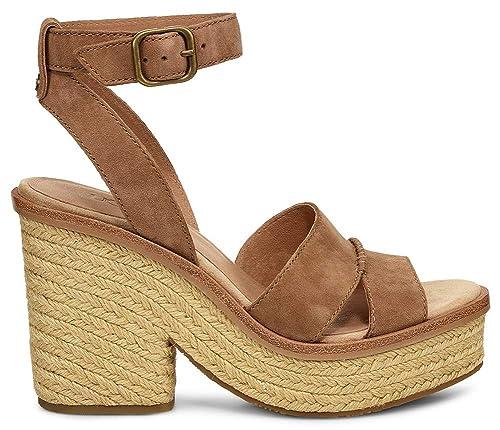 nuovo stile 015d1 78bd3 Sandalo Con Tacco UGG Carine in Pelle Nera, Size UK: Black ...