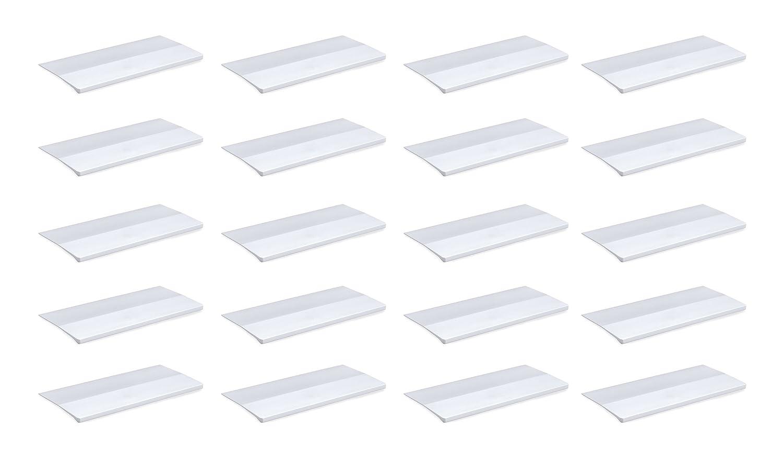 Emuca 9162562 Lote de 20 tiradores adhesivos en aluminio anodizado mate para mueble, largo 62mm
