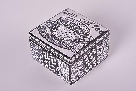 Caja para guardar bisuteria hecha a mano cofre para joyas regalo original