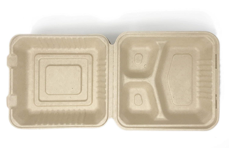 Contenedor de alimentos 100% COMPOSTABLE 8 x 8 3 ...