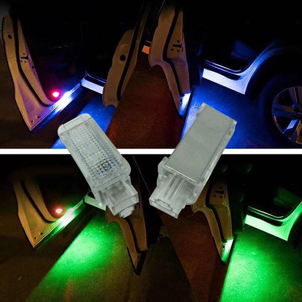 Q3 A5 B6 B5 A1 C5 Q7 B7 Interior del coche de color RGB LED luces de ambiente reposapi/és Ambient luces LED con control remoto para A3 A4 C6 A8 - 2pcs // set A7 B8 TT A6 R8