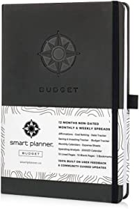 "Budget Planner - Smart Planner Bill Organizer - Tested and Proven to Help Achieve Financial Success. Premium 8.3 x 5.8"" Hardcover Budget Planner Organizer Undated. (Black)"