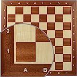 Wegiel Handmade Wooden 18.9 Inch Mahogany & Sycamore European Professional Tournament Chess Board