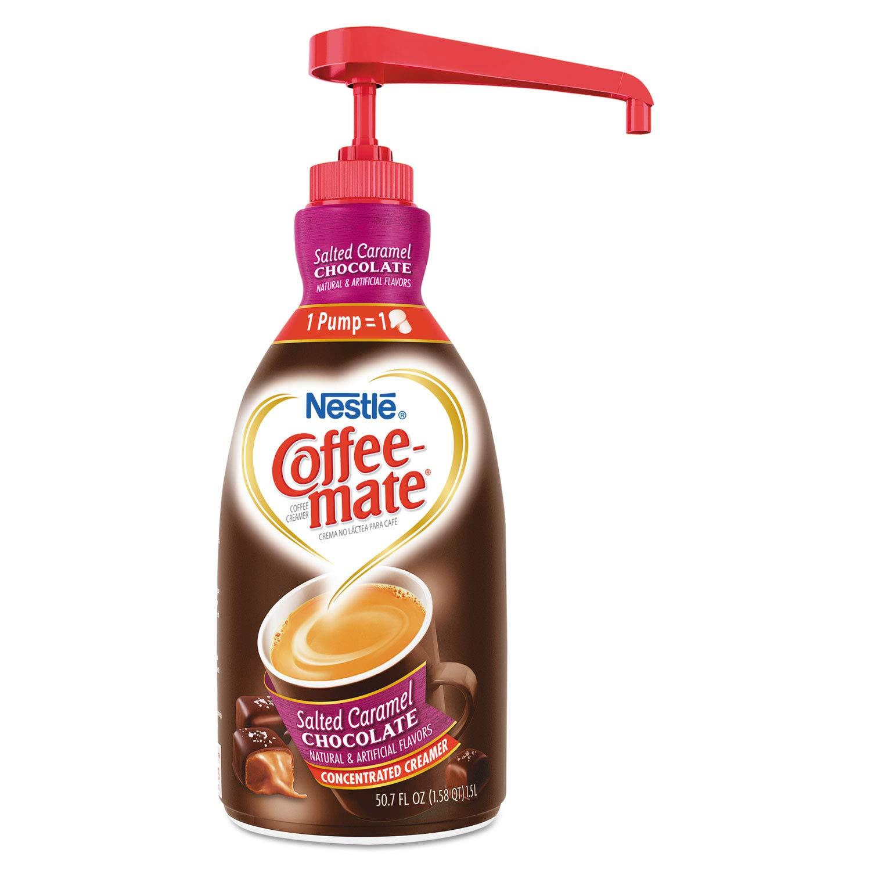 Coffee-Mate Salted Caramel Choc. Creamer - Salted Caramel Chocolate Flavor - 1.58 quart - 1EachBottle