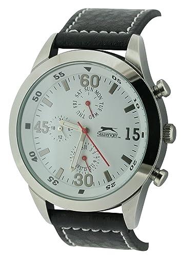 Slazenger Slz502/B - Reloj de caballero de cuarzo, correa de plástico color negro: Amazon.es: Relojes