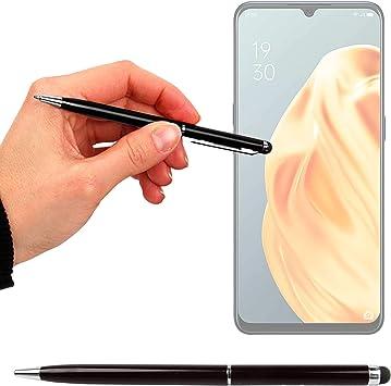DURAGADGET Lápiz Stylus Negro + Bolígrafo (2 En 1) Compatible con Smartphone OPPO A8, OPPO A91, OPPO Reno 3, OPPO Reno 3 Pro: Amazon.es: Electrónica