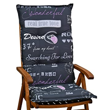 Amazonde Möbelträume Hochlehner Sessel Auflagen 8 Cm Dick 120 Cm