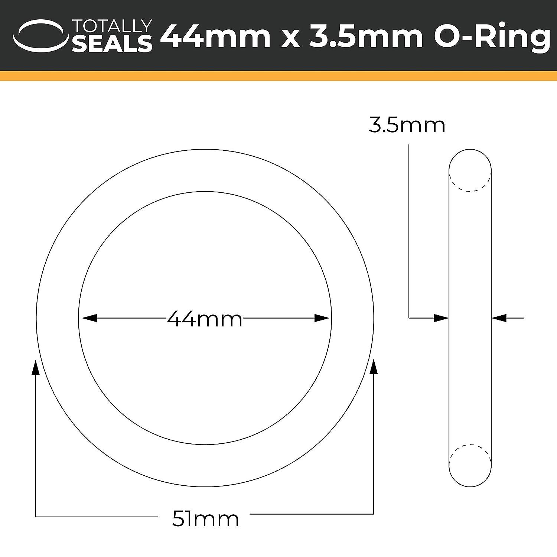 44/mm x 3,5/mm metrisches Nitril O-Ringe/ Schwarz /70/A Shore