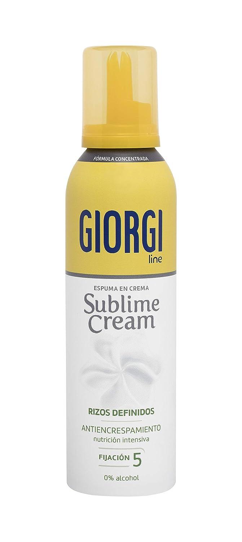 Giorgi Line - Sublime Cream, Espuma en Crema Rizos Definidos sin Encrespamiento, Fórmula Concentrada 0% Alcohol 0% Siliconas, Fijación 5 - 150 ml
