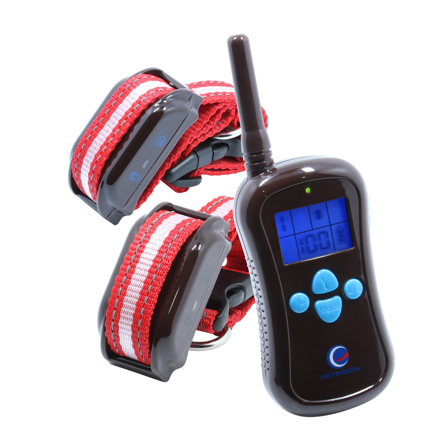 2 Receiver Remote Dog Training Collar Beep, Vibration Shock in 656 Yards Control Range, Rechargeable Waterproof Shock Collar Dogs, P680C-2