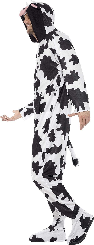 Smiffys Costume de vache tout-en-un avec capuche