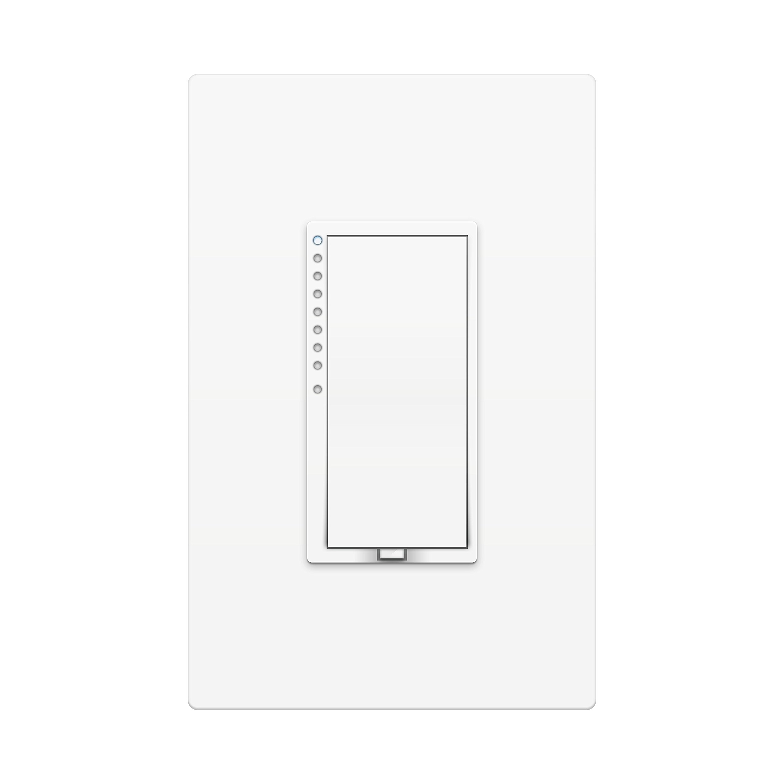 Insteon Smart High Wattage Dimmer Wall Switch, Works with Alexa via Insteon Hub, Uses Superior Dual-Mesh Wireless Technology for Unbeatable Reliability - Better than Wi-Fi, Zigbee & Z-Wave