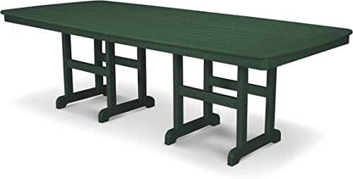 POLYWOOD Nautical 44-Inch by 96-Inch Dining Table, Green