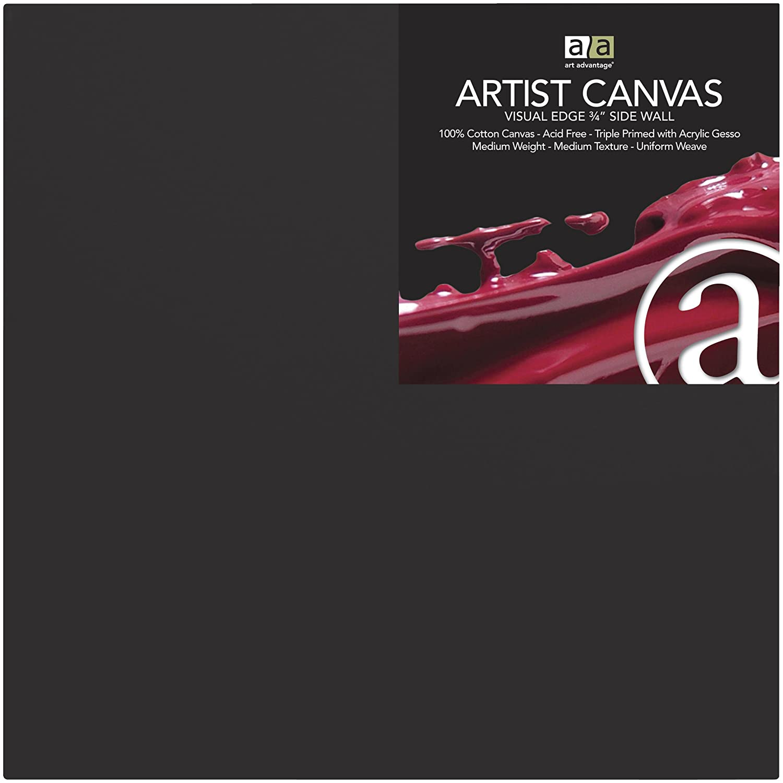 8 by 10-Inch Black Art Advantage Artist Canvas