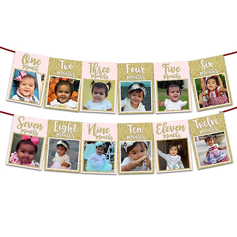 Girl First Birthday Milestone Poster Rainbow Confetti 1st Birthday Party Sign Girl Birthday Board Milestone Print Polka Dot Gold Glitter