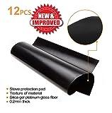 Stove Burner Covers - Gas Stove Protectors Black