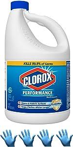 Clorox Performance Bleach with Cloromax | Mega Pack - 121 oz Bottle