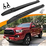 SnailAuto Black Roof Rack Cross Bars Set Fit for 2005-2020 Toyota-Tacoma Double Cab Luggage Carrier