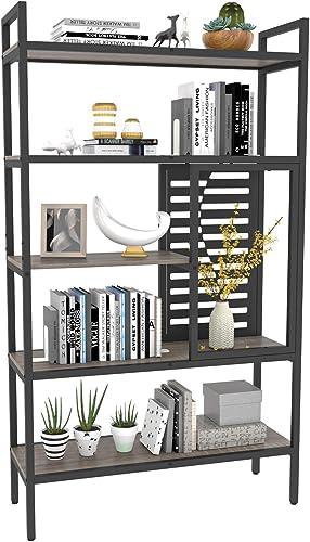 Weehom 5-Tier Adjustable Industrial Bookshelf - the best modern bookcase for the money