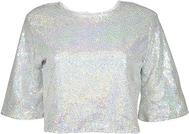 Senza Fretta - Camisas - para mujer plateado plata XL: Amazon ...