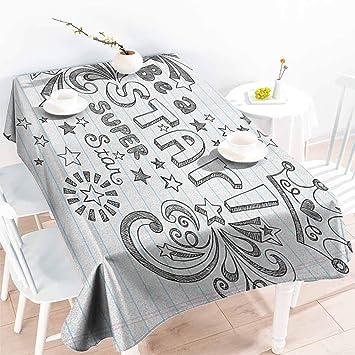 Amazon.com: familytaste – Mantel rectangular de unicornio ...