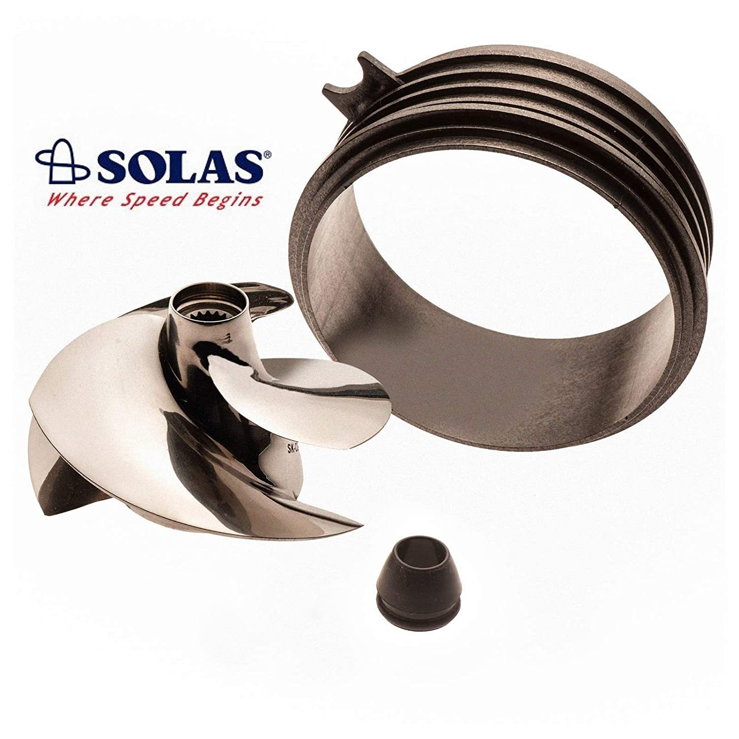 3-Up 14-18 Impeller SK-CD-12//17 with Wear Ring Solas Sea Doo Spark 2-Up 14-17