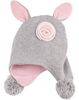 5bc478f2ea1 Amazon.com  ERISO Toddler Baby Girls Winter Hat Fleece Lined Knit ...