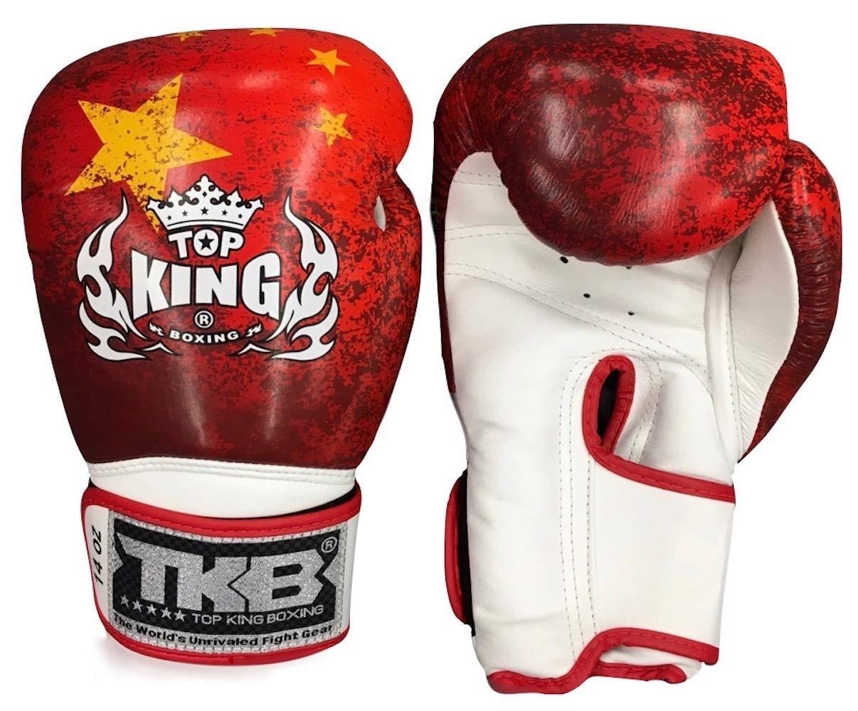 MMABLAST トップキング 中国国旗 ムエタイ ボクシング グローブ-TKBGSS-03 AIR 14oz  B07HDYWK3Q