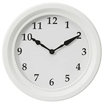 Reloj de pared de colour blanco con un diámetro de IKEA söndrum 35 cm: Amazon.es: Hogar