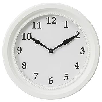 Reloj de pared de colour blanco con un diámetro de IKEA söndrum 35 cm: Amazon.es: Hogar