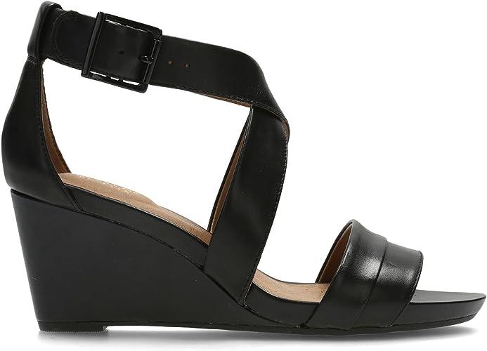 Clarks Acina Newport Leather Sandals In