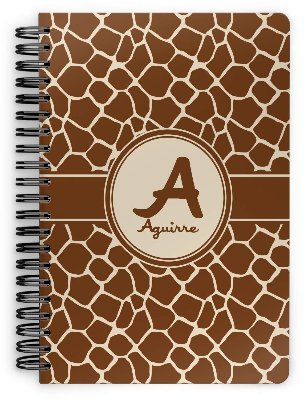 Giraffe Print Spiral Bound Notebook - 7x10 (Personalized) by YouCustomizeIt