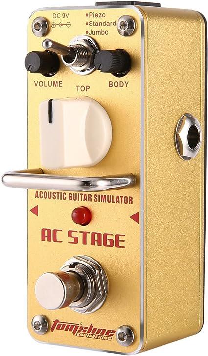 Pedal aroma AAS-3 Etapa AC simulador de guitarra acústica Mini ...
