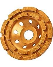 KSEIBI 644030 4-1/2-Inch 115mm Double Row Diamond Cup Grinding Wheel Gold