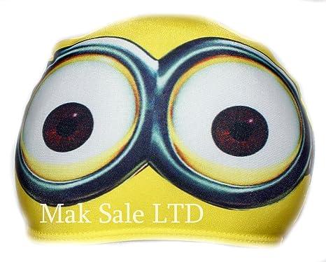 03f5a0dff3a4 Bonnet de bain en tissu pour enfant Motif Minions  agrave  lunette Taille 2- 10