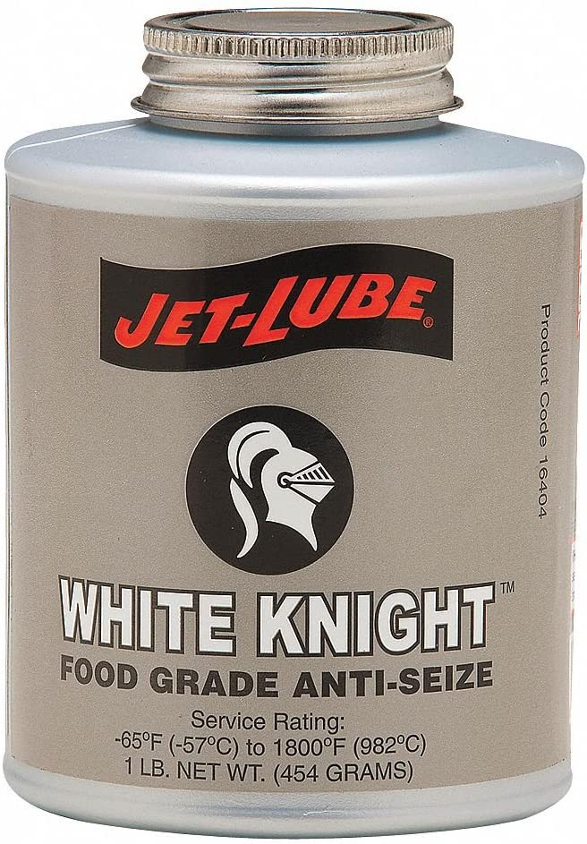 Food Grade Anti-Seize, 1 lb, Brush-Top Can, Aluminum, Paste, White Knight, -65°F, 1800°F - 1 Each