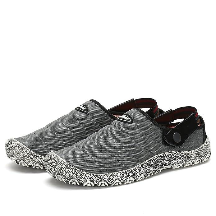 Maniamixx Zapatos de Jardinería Casuales Slip-On Zapatillas de Ocio Lona Pantuflas Unisex de Tela Antideslizante para Mujeres Hombres: Amazon.es: Zapatos y ...