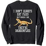 Bearded Dragon Eat Dragon Flies Reptile Lizard Sweatshirt