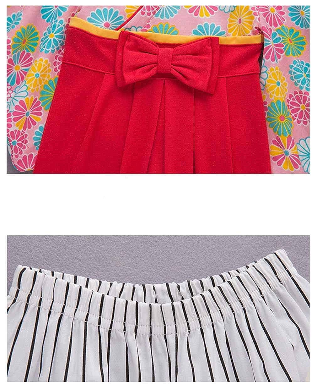 Les Filles /à Manches Longues Romper Gar/çons V/êtements de Style Japonais 70-95CM Enfant Combinaison B/éb/é Coton Kimono